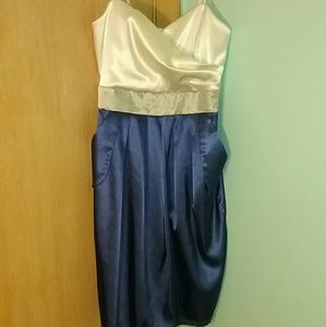 Blue, white and grey formal dress